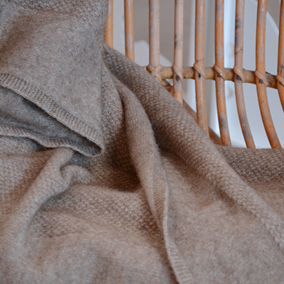 Natural Merino Possum Throw